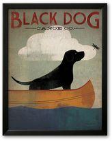 "Art.com Black Dog Canoe"" Framed Art Print By Ryan Fowler"