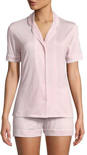 Derek Rose Carla Knit Shortie Pajama Set