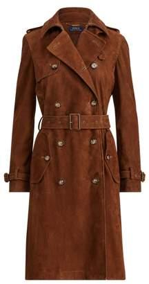 Ralph Lauren Lamb-Suede Trench Coat
