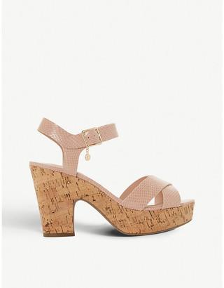 Dune Iylene faux-leather heeled sandals