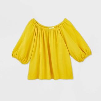 Universal Thread Women's Bubble Elbow Sleeve Blouse - Universal ThreadTM