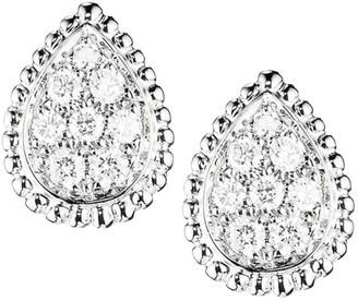 Boucheron Serpent Boheme 18K White Gold & Diamond Stud Earrings