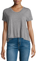 Current/Elliott The Girlfriend Short-Sleeve Tee, Heather Gray