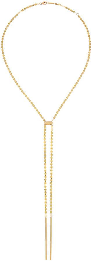 Lana 14K Gold Nude Tie-Up Bolo Necklace