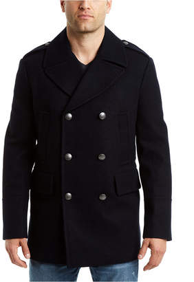 Vince Camuto Men Double Breasted Nautical Peacoat Jacket