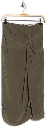 Stateside Cupro Twist Front Skirt
