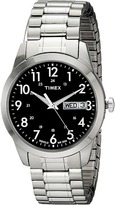Timex Silver-Tone Analog Expansion Band Dress Watch