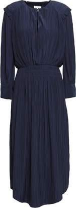 Joie Plisse Woven Midi Dress