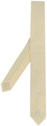 Thom Browne Striped Seersucker Tie
