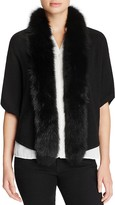 Magaschoni Fox Fur Trimmed Cashmere Cocoon Cardigan