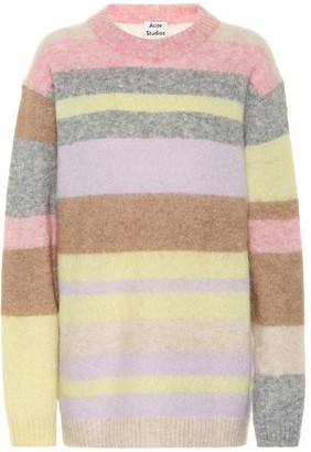Acne Studios Striped wool and mohair sweater