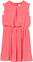 Lili Gaufrette Pink Pleated Skirt Dress