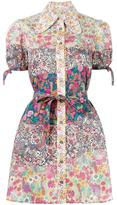 Olympia Le-Tan Dr Banana Kush shirt dress - women - Cotton - 36
