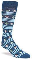 Daniel Cremieux Snowman Stripe Crew Socks