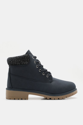 Ardene Faux Leather Combat Boots - Shoes |