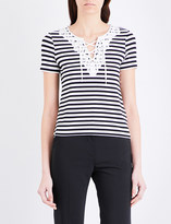 Claudie Pierlot Tamise striped jersey t-shirt