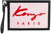 Kenzo logo pouch - women - Cotton/Leather/Nylon/Polyurethane - One Size