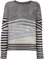 Giorgio Armani striped knit jumper - women - Silk/Polyamide/Viscose/Cashmere - 40