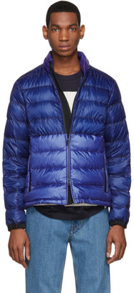 Moncler SSENSE Exclusive Blue Down Aimar Jacket
