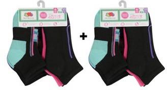 Fruit of the Loom Girls Socks, 12 Pack Ankle Active (Little Girls & Big Girls)