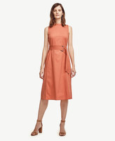 Ann Taylor Petite Bateau Belted Dress