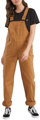 Dickies Women's Relaxed Fit Straight-Leg Overalls