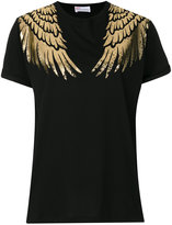 RED Valentino embroidered T-shirt - women - Cotton/Polyamide - XS