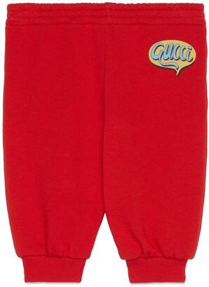 Gucci Baby Comics cotton jogging trousers