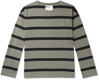 Margaret Howell Striped Cotton-Jersey T-Shirt