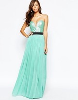Rare Sweetheart Bandeau Maxi Dress with Sequin Top