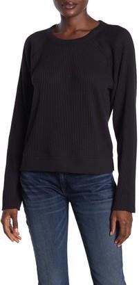Rag & Bone Solid Raglan Sleeve Ribbed Pullover