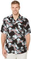 Cubavera Big & Tall Short Sleeve Tropical Black Print Shirt