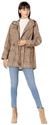 J.Crew Perfect Rain Jacket in Leopard (Camel/Black) Women's Coat