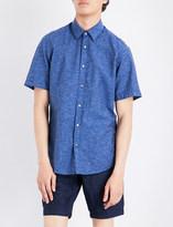 BOSS Regular-fit cotton and linen-blend shirt