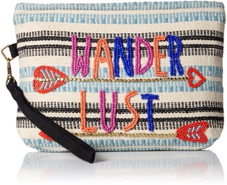 Ale By Alessandra Women's Wanderlust Beaded Clutch With Detachable Strap Accessory
