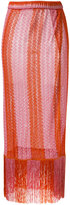 Missoni long knitted skirt - women - Polyester/Cupro/Viscose - 42
