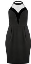 City Chic Black Velvet Dress