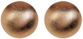 Rivka Friedman Rose Gold Clad Satin Button Post Earrings