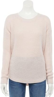 So Juniors' Shirttail Hem Pullover Sweater