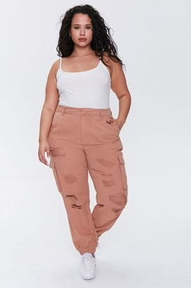 Forever 21 Plus Size Distressed Joggers