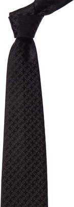 Brioni Black Vines Silk Tie