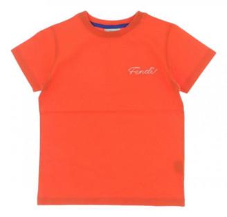 Fendi Orange Cotton Tops
