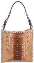 Prada Python Studded Handle Bag