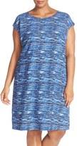 Sejour Plus Size Women's Cap Sleeve Shift Dress