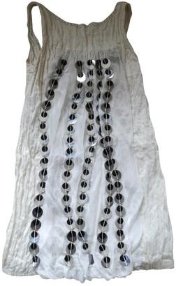Philosophy di Alberta Ferretti White Silk Dresses