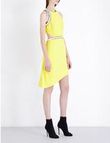 Thierry Mugler Cutout crepe mini dress