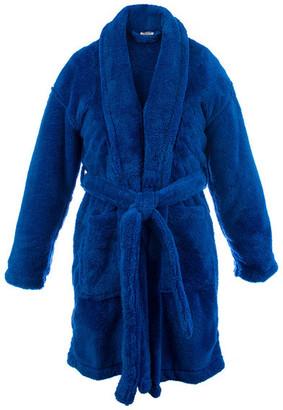 Bare Cotton Kids Microfiber Fleece Shawl Robe, Boys, Royal Blue, Medium