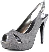G by Guess Women's Cathy Slingback Platform Sandals, Grey, Size 9.0