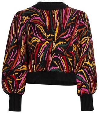 Farm Rio Shiny Zebra Sweater