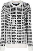 MSGM logo intarsia jumper - women - Polyamide/Wool - XS